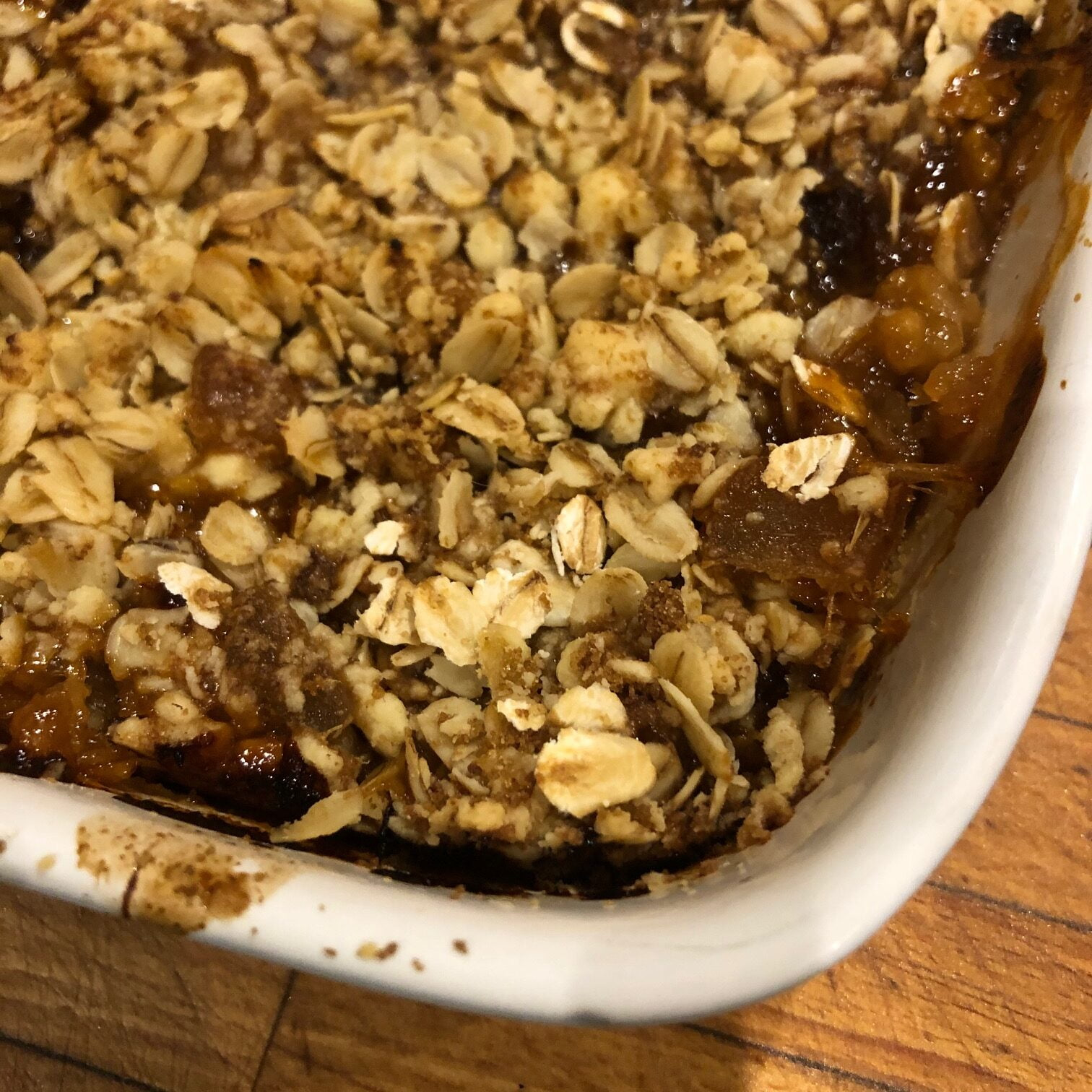 Rhubarb & Sticky Ginger Crumble