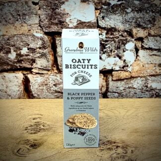 Oaty Biscuits for Cheese with Black Pepper & Poppy Seeds