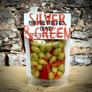 Silver & Green Piri Piri Stuffed Olives
