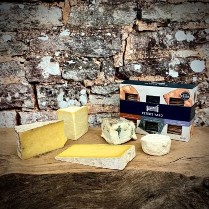 The Courtyard Dairy Yorkshire Cheese Box with Hebden and Peter's Yard Crispbread Selection