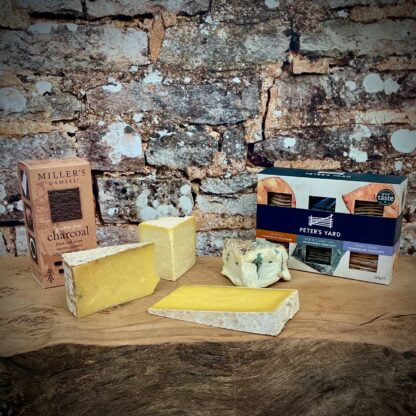 The Courtyard Diary Yorkshire Cheese Box including Cheese Biscuits
