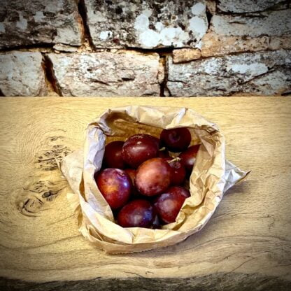 Yorkshire Opal Plums in a bag