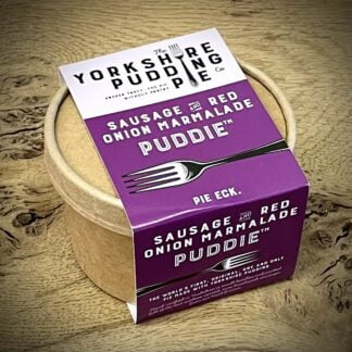 The Yorkshire Pudding Pie - Sausage & Red Onion Marmalade Puddie
